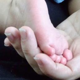 babyvoetje babymassage